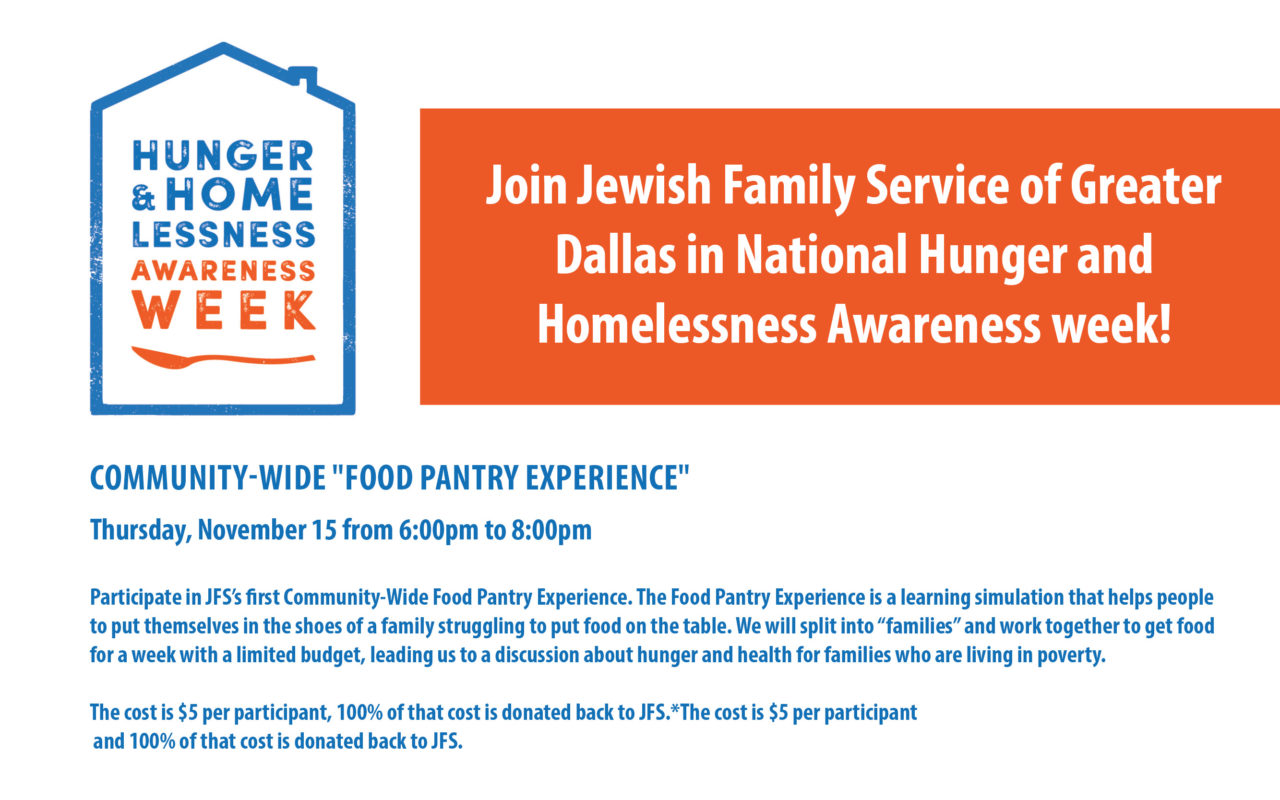 National Hunger and Homelessness Awareness Week - Jewish